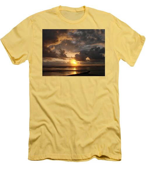 Men's T-Shirt (Slim Fit) featuring the photograph Majestic Sunset by Athena Mckinzie