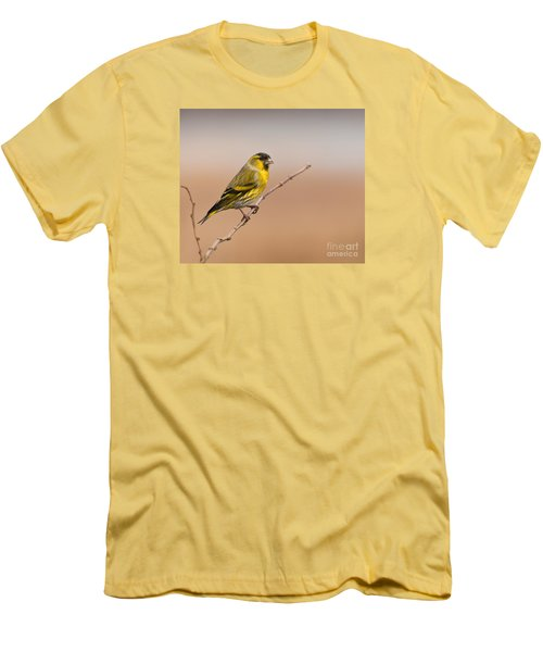 Male Eurasian Siskin Men's T-Shirt (Athletic Fit)
