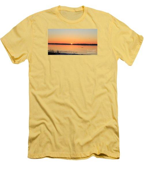 Mallards At Sunrise Men's T-Shirt (Slim Fit) by David Jackson