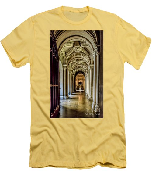Mansion Hallway Men's T-Shirt (Slim Fit) by Adrian Evans