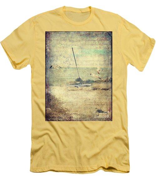 Marooned Men's T-Shirt (Slim Fit) by Erika Weber