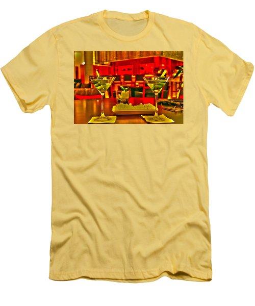 Martini Time Men's T-Shirt (Athletic Fit)