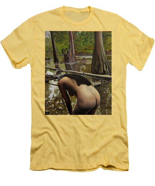 May Morning Arkansas River  2 Men's T-Shirt (Slim Fit)