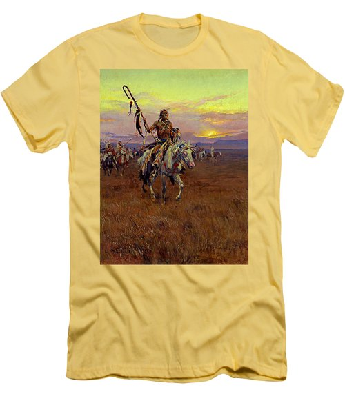 Medicine Man Men's T-Shirt (Slim Fit) by Charles Marion Russell