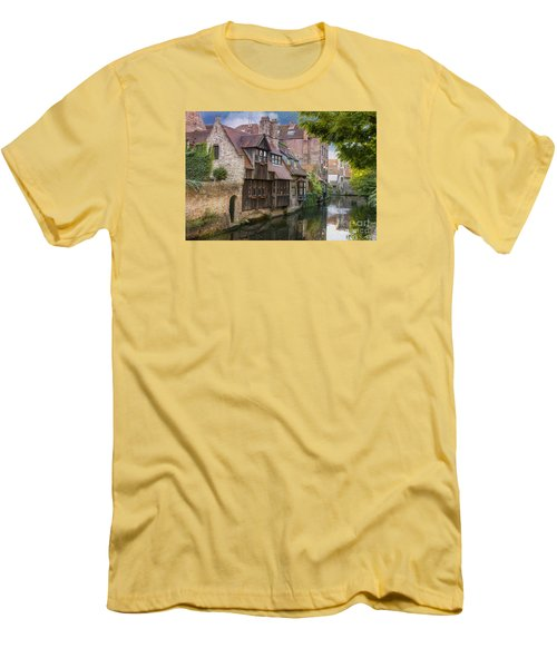 Medieval Bruges Men's T-Shirt (Slim Fit) by Juli Scalzi