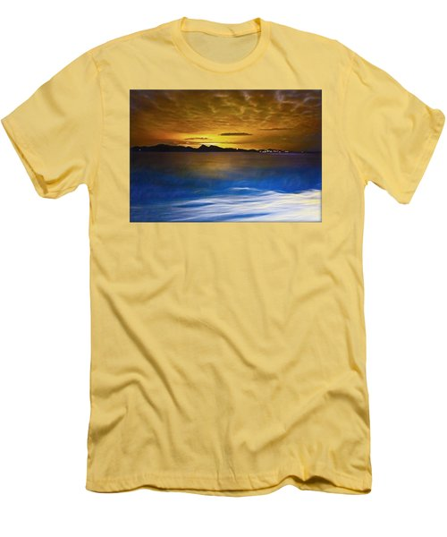 Mediterranean Sunrise Men's T-Shirt (Slim Fit) by Hanny Heim