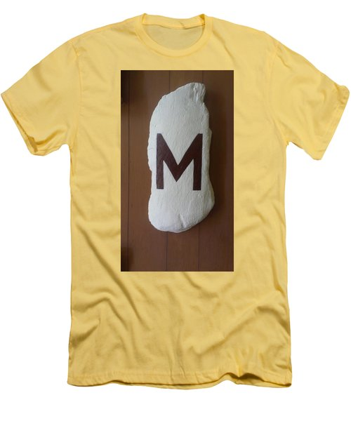 Men's T-Shirt (Slim Fit) featuring the painting Menominee Maroons by Jonathon Hansen
