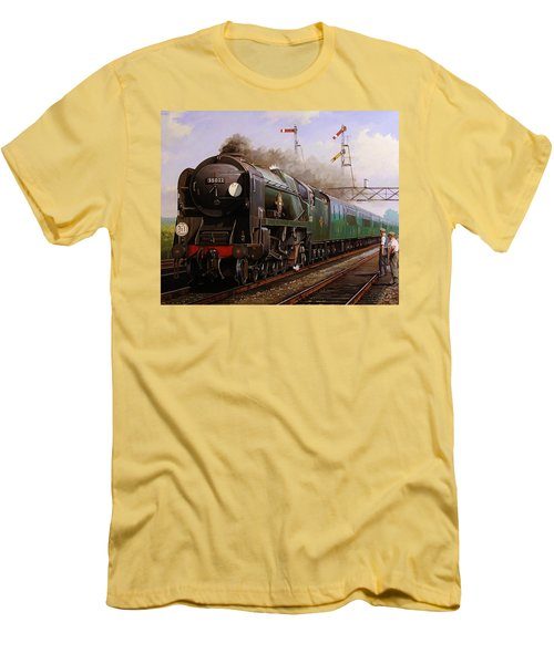 Merchant Navy Pacific At Brookwood. Men's T-Shirt (Athletic Fit)