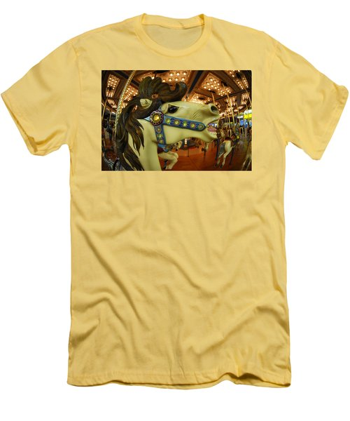 Merry Go Round Men's T-Shirt (Slim Fit) by Sami Martin