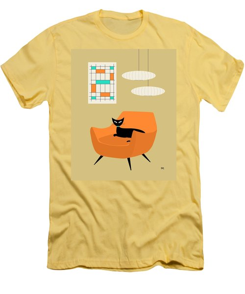 Mini Abstract With Orange Chair Men's T-Shirt (Athletic Fit)