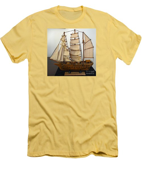 Model Sailing Ship Men's T-Shirt (Athletic Fit)