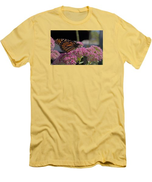 Monarch On Sedum Men's T-Shirt (Slim Fit) by Shelly Gunderson