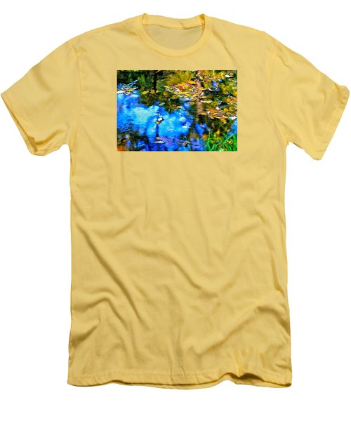 Men's T-Shirt (Slim Fit) featuring the photograph Monet's Garden by Ira Shander