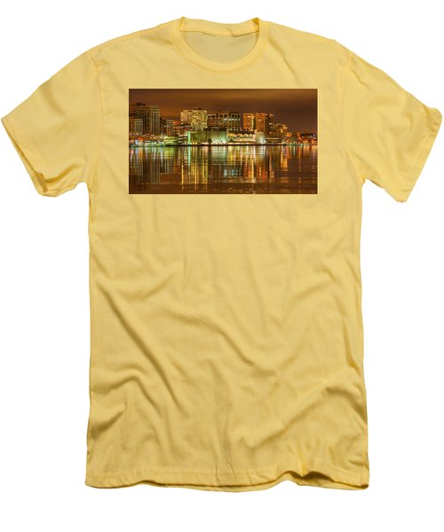 Monona Terrace Madison Wisconsin Men's T-Shirt (Slim Fit) by Steven Ralser
