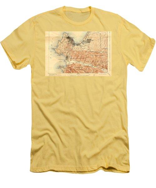 Monterey And Carmel Valley  Monterey Peninsula California  1912 Men's T-Shirt (Slim Fit) by California Views Mr Pat Hathaway Archives