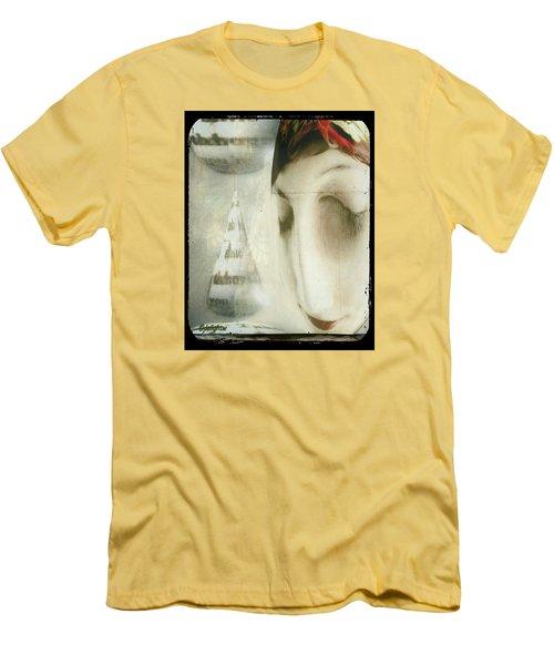 Moon Face Men's T-Shirt (Athletic Fit)