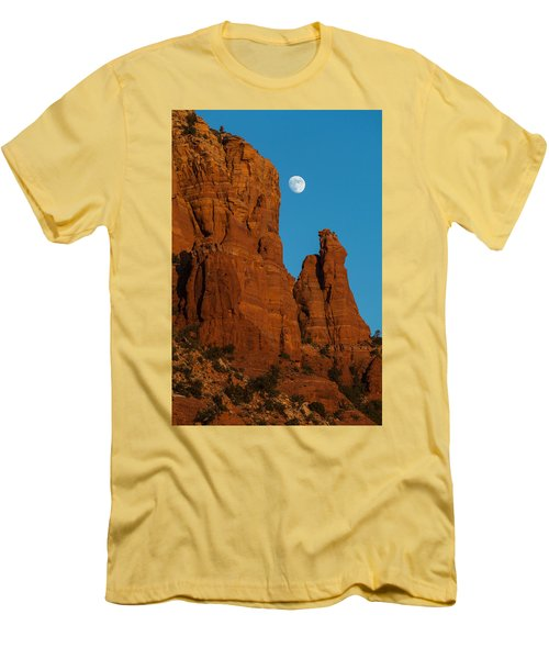 Moon Over Chicken Point Men's T-Shirt (Athletic Fit)