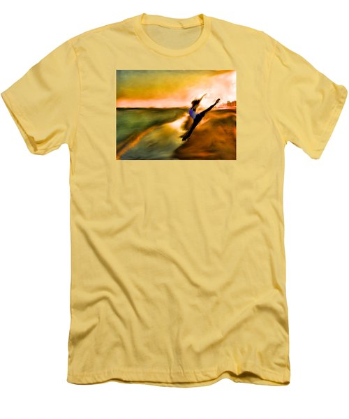 Men's T-Shirt (Slim Fit) featuring the mixed media Moose In Law by Terence Morrissey