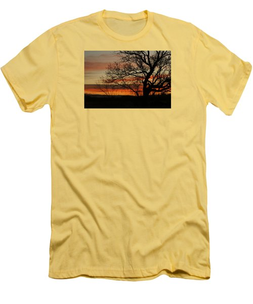 Morning View In Bosque Men's T-Shirt (Slim Fit) by James Gay