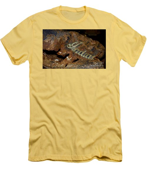 Men's T-Shirt (Slim Fit) featuring the photograph Motorcycle Axe Murderer by Wilma  Birdwell