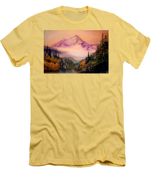 Mount Baker Morning Men's T-Shirt (Athletic Fit)