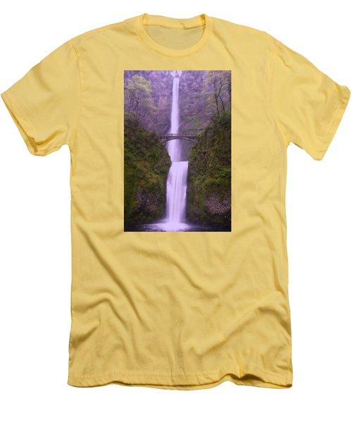 Multnomah In The Drizzling Rain Men's T-Shirt (Slim Fit) by Jeff Swan