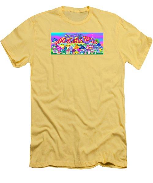Mushroom Meadow Frogs Men's T-Shirt (Athletic Fit)