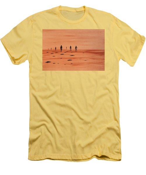 Men's T-Shirt (Slim Fit) featuring the painting My Dreamtime 2 by Tim Mullaney
