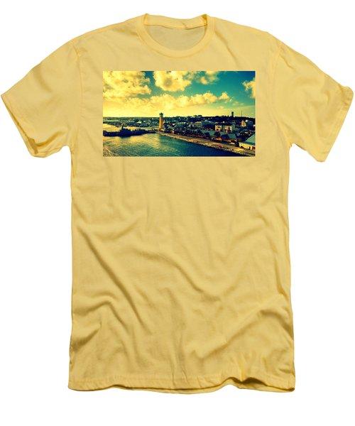 Nassau The Bahamas Men's T-Shirt (Slim Fit) by Paulo Guimaraes
