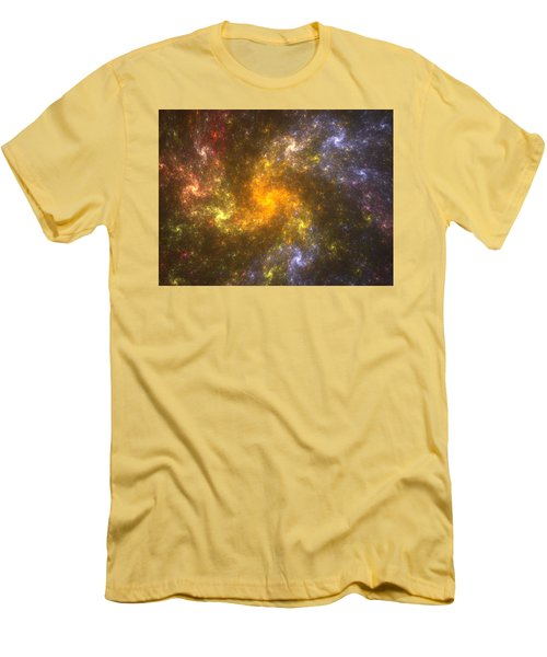 Men's T-Shirt (Slim Fit) featuring the digital art Nebula by Svetlana Nikolova