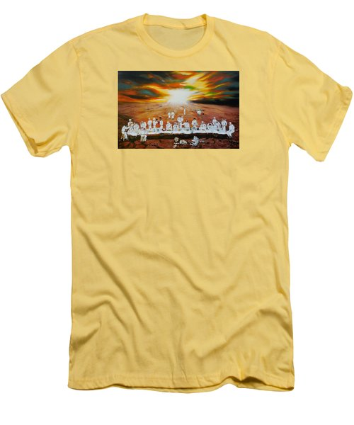 Never Ending Last Supper Men's T-Shirt (Slim Fit) by Raymond Perez