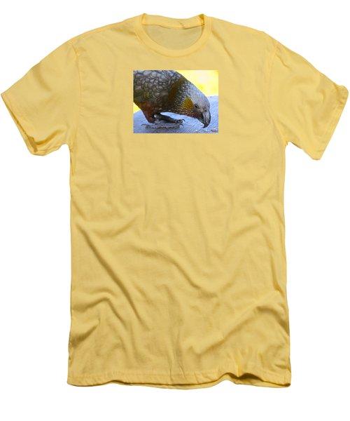 New Zealand Kaka Happy Hour Men's T-Shirt (Slim Fit) by Venetia Featherstone-Witty