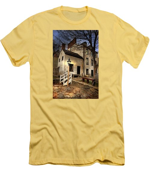 Men's T-Shirt (Slim Fit) featuring the digital art Night Watchman by Mary Almond