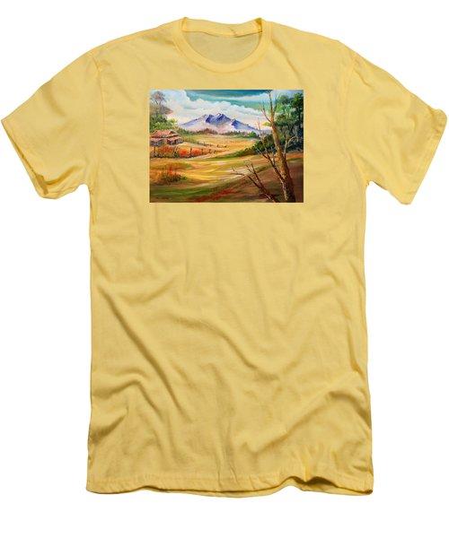 Nipa Hut 2  Men's T-Shirt (Slim Fit) by Remegio Onia