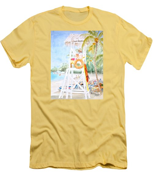 No Problem In Jamaica Mon Men's T-Shirt (Slim Fit) by Marilyn Zalatan