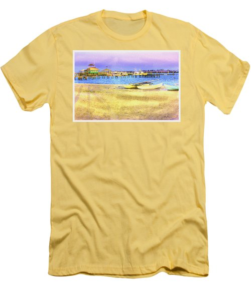 Coastal - Beach - Boats - Ocean Front Property Men's T-Shirt (Athletic Fit)