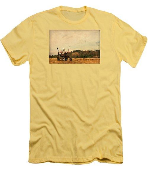 Men's T-Shirt (Slim Fit) featuring the photograph Old Red by Joan Davis