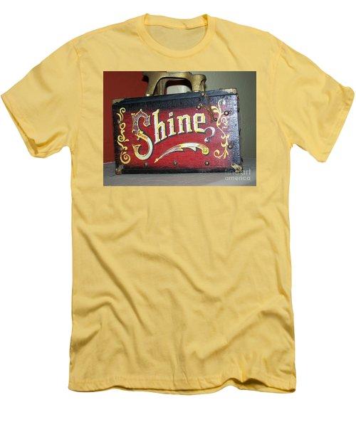 Old Shoe Shine Kit Men's T-Shirt (Slim Fit) by Pamela Walrath