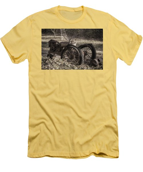 Men's T-Shirt (Slim Fit) featuring the photograph Old Tractor by Lynn Geoffroy