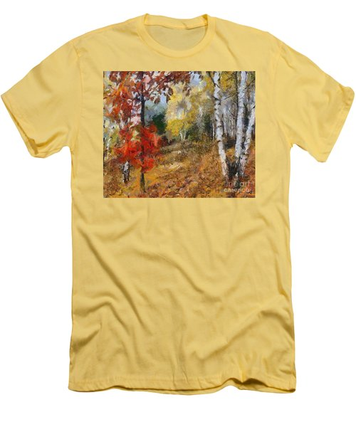 On The Edge Of The Forest Men's T-Shirt (Slim Fit) by Dragica  Micki Fortuna