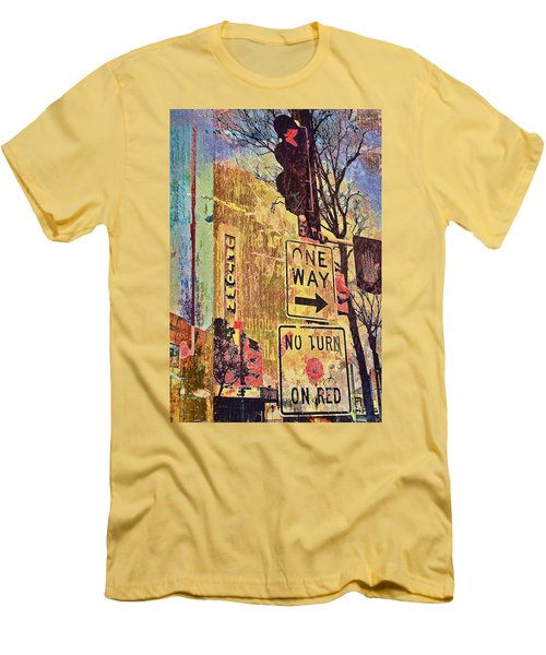One Way To Uptown Men's T-Shirt (Slim Fit) by Susan Stone