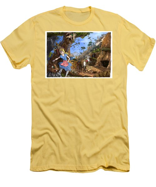 Men's T-Shirt (Slim Fit) featuring the painting Open Sesame by Reynold Jay