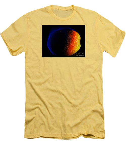 Orange And Blue Men's T-Shirt (Slim Fit) by Paul  Wilford