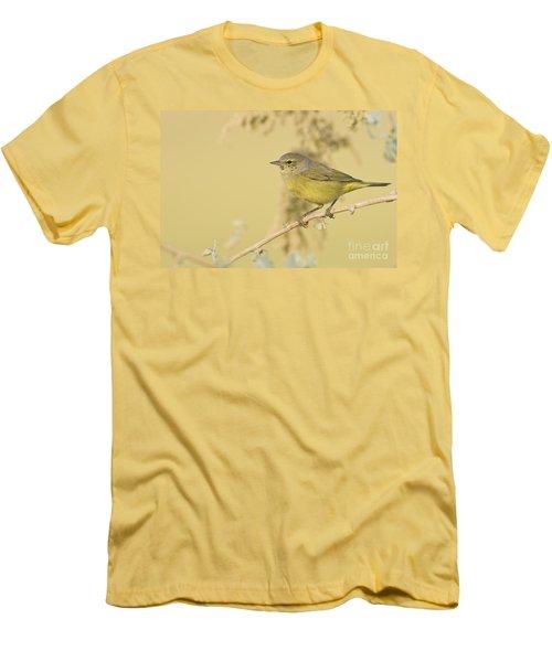 Orange Crowned Warbler Men's T-Shirt (Slim Fit) by Bryan Keil