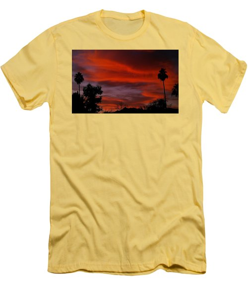 Men's T-Shirt (Slim Fit) featuring the photograph Orange Sky by Chris Tarpening