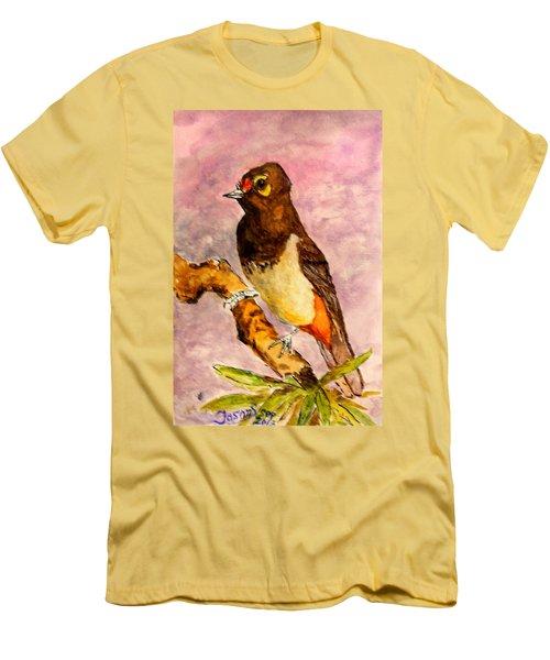 Orange-spotted Bulbul Men's T-Shirt (Athletic Fit)