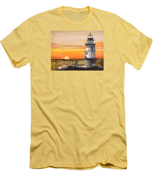 Orient Point Lighthouse Men's T-Shirt (Athletic Fit)