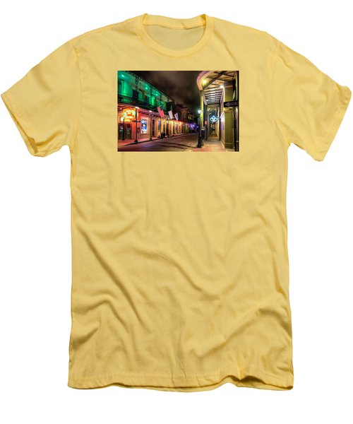 Orleans And Bourbon Men's T-Shirt (Slim Fit) by Tim Stanley