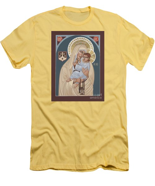 Men's T-Shirt (Slim Fit) featuring the painting Our Lady Of Mt. Carmel 255 by William Hart McNichols