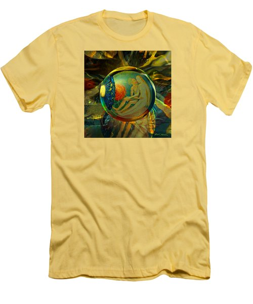 Men's T-Shirt (Slim Fit) featuring the painting Ovule Of Eden  by Robin Moline